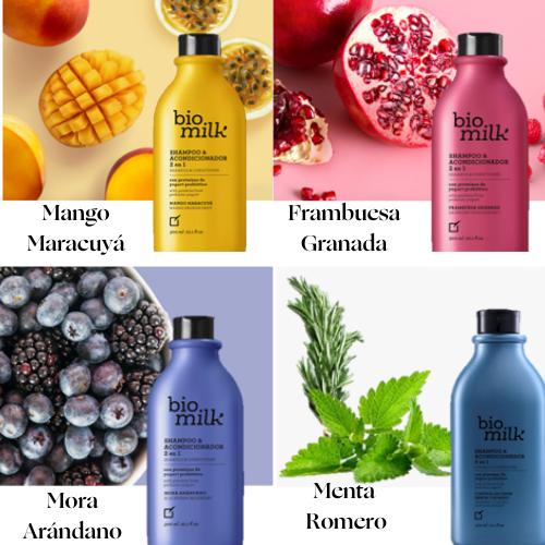 Shampoos y Acondicionador 2 en 1 Bio Milk Yanbal Colombia